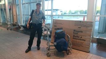 Mon départ de l'Aéroport de Montréal