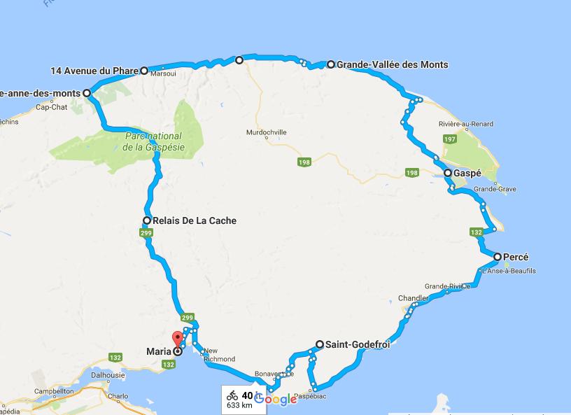 Capture Carte Voyage en Gaspésie 2017.1
